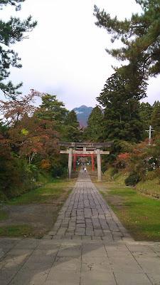 岩木山神社の足湯喫茶