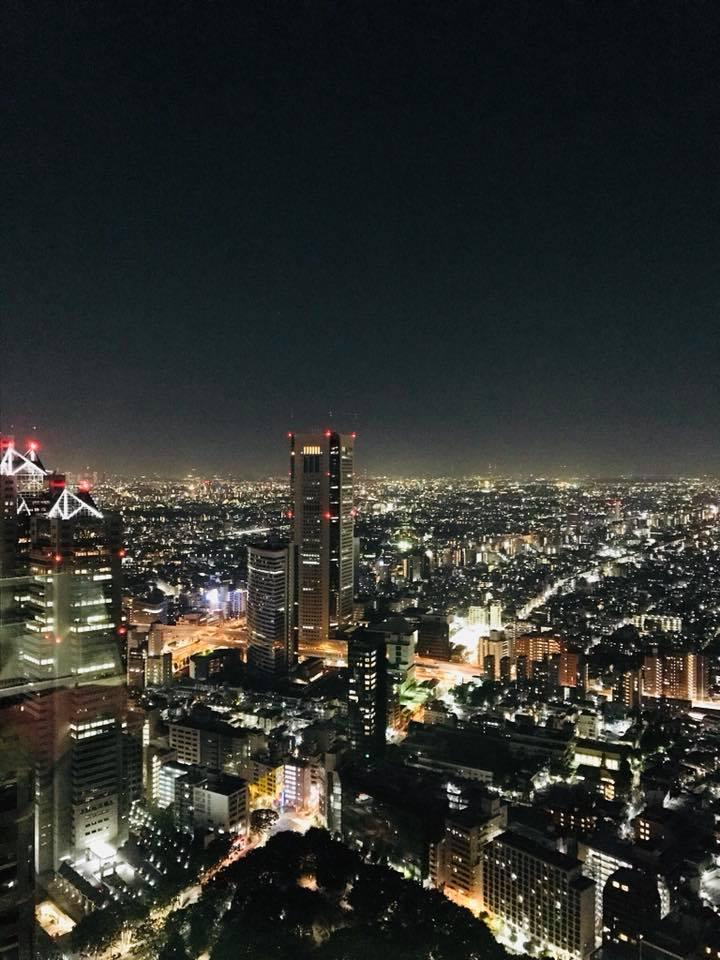都庁で夜景見物